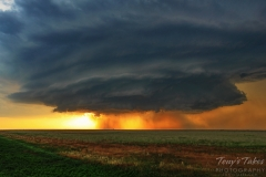 Oklahoma sunset supercell