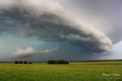 Shelf cloud approaches