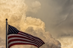 Old Glory and a thunderstorm