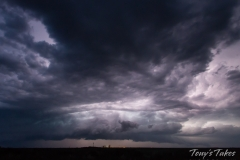Lightning illuminated thunderstorm