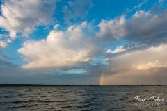 Small rainbow in a big sky
