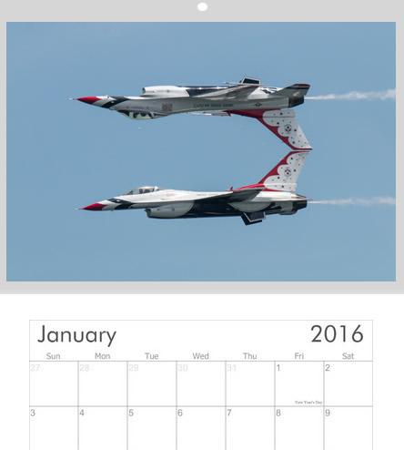 2016 USAF Thunderbirds Calendar