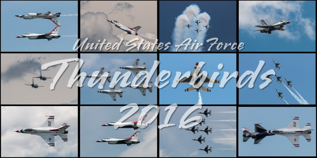 2016 USAF Thunderbirds Calendar Images