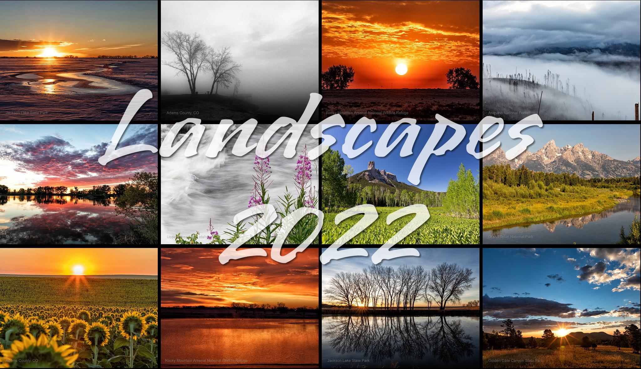Landscapes 2022 calendar